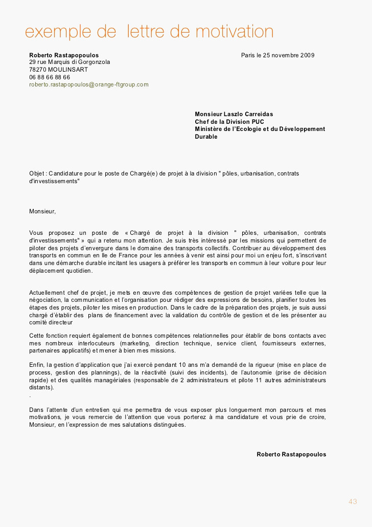 lettre de motivation hotesse service client leroy merlin