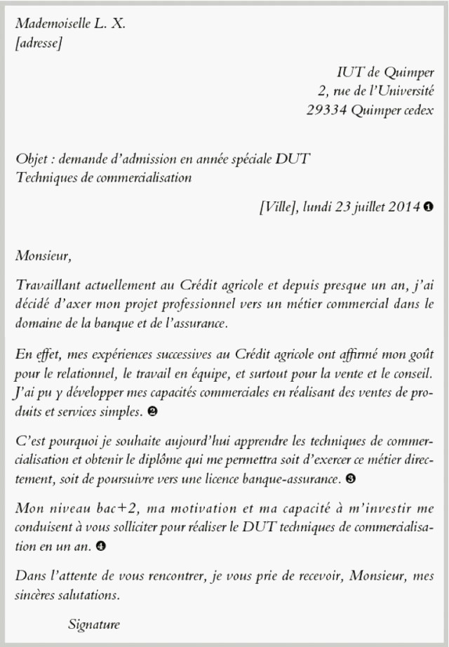 lettre de motivation licence information communication