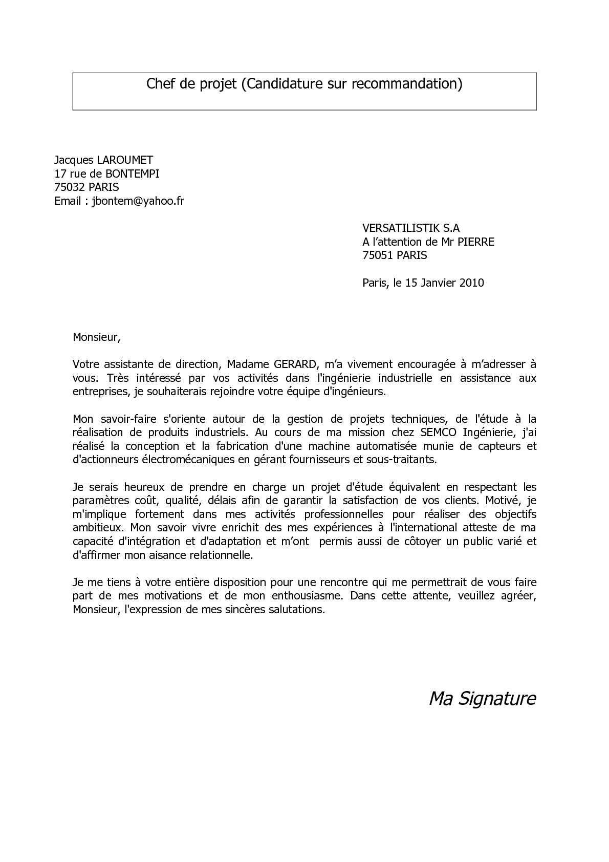 lettre de motivation licence geographie amenagement