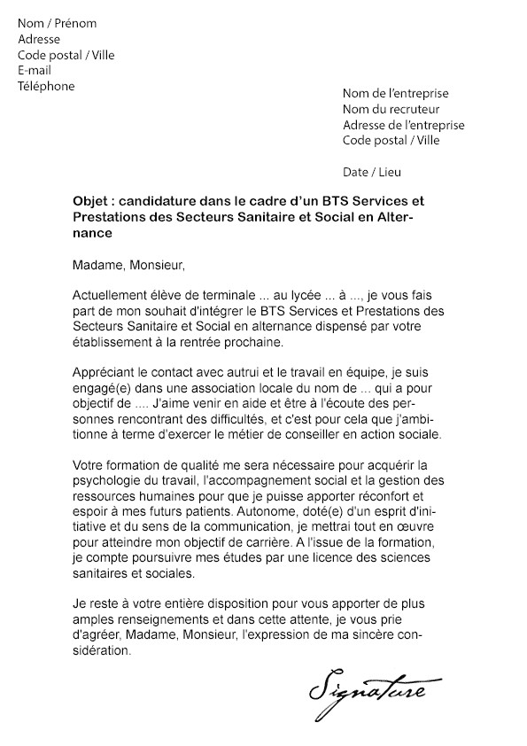 lettre de motivation assistant rh alternance