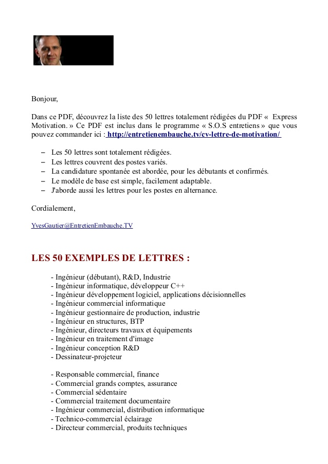 lettre de motivation ing u00e9nieur d u0026 39 affaires