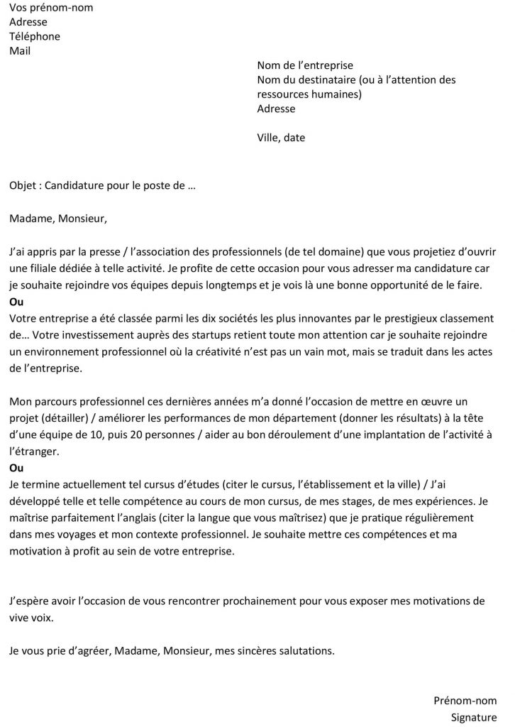 lettre de motivation operateur de saisie