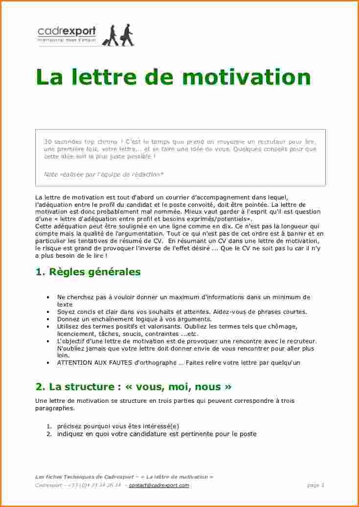 pmsmp lettre de motivation