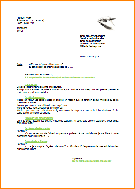 lettre de motivation pole emploi exemple