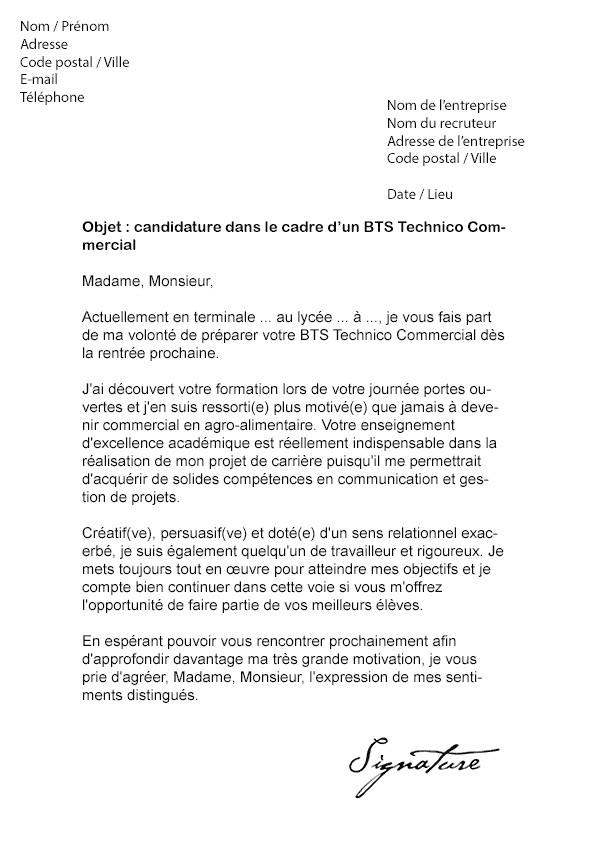 lettre de motivation dut carri u00e8re sociale option gestion
