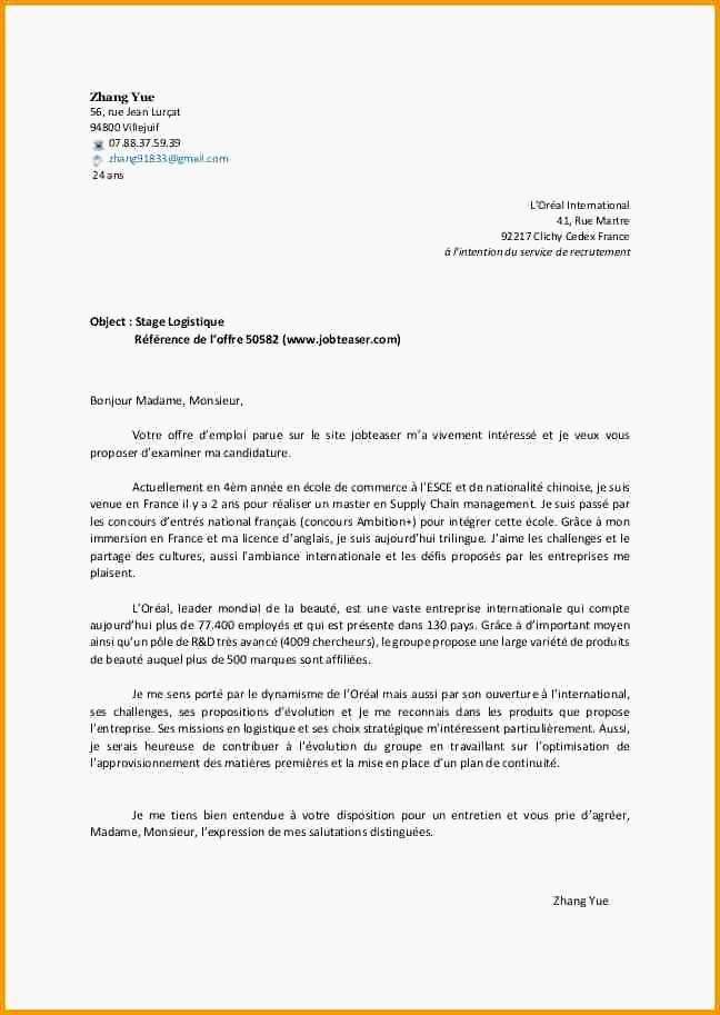 lettre de motivation livreur debutant