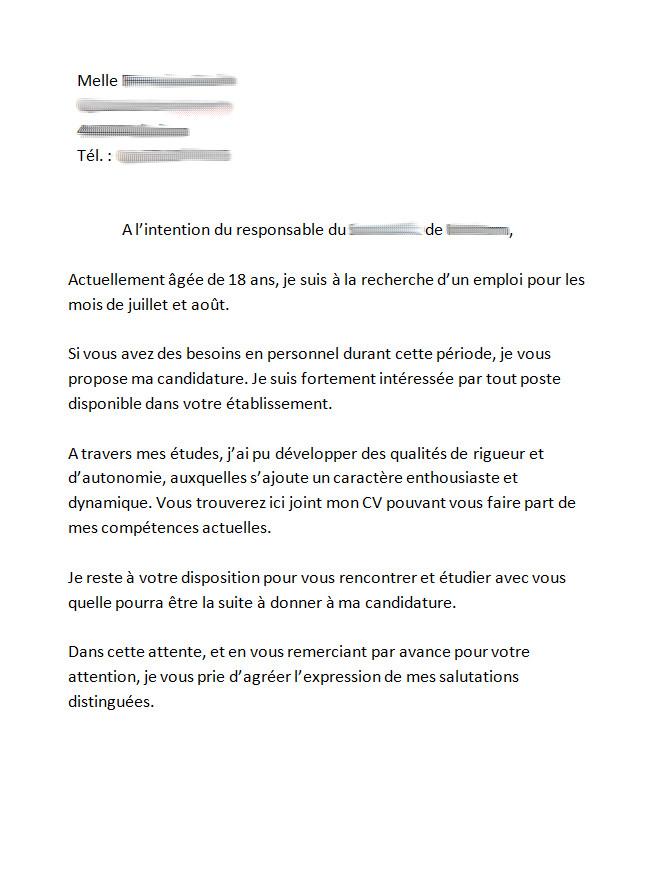 lettre de motivation job d u0026 39  u00e9t u00e9 17 ans mairie