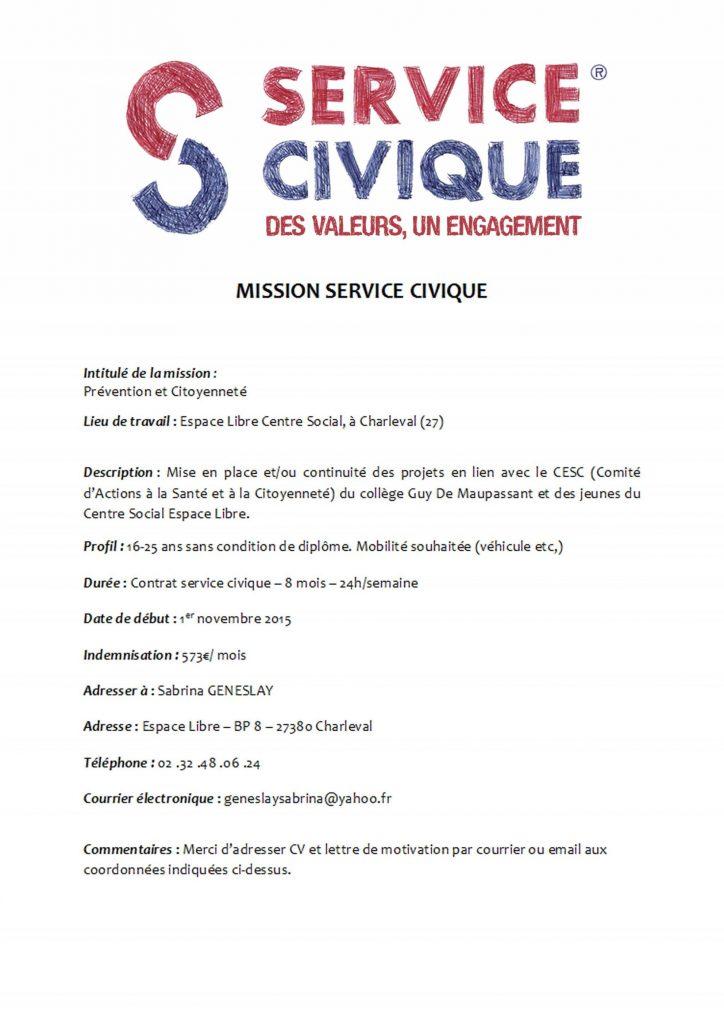 exemple de cv pour un service civique