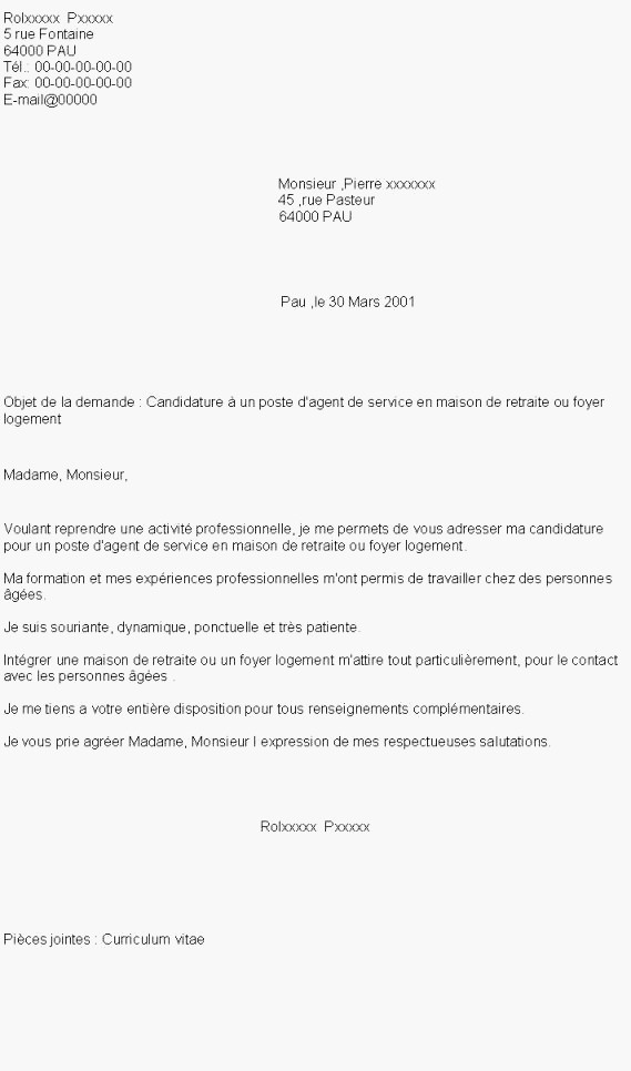 lettre de motivation pour travailler en ehpad