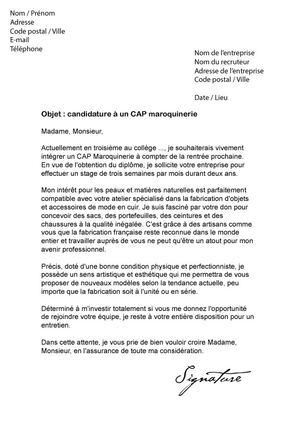 lettre de motivation cap esth u00e9tique en alternance