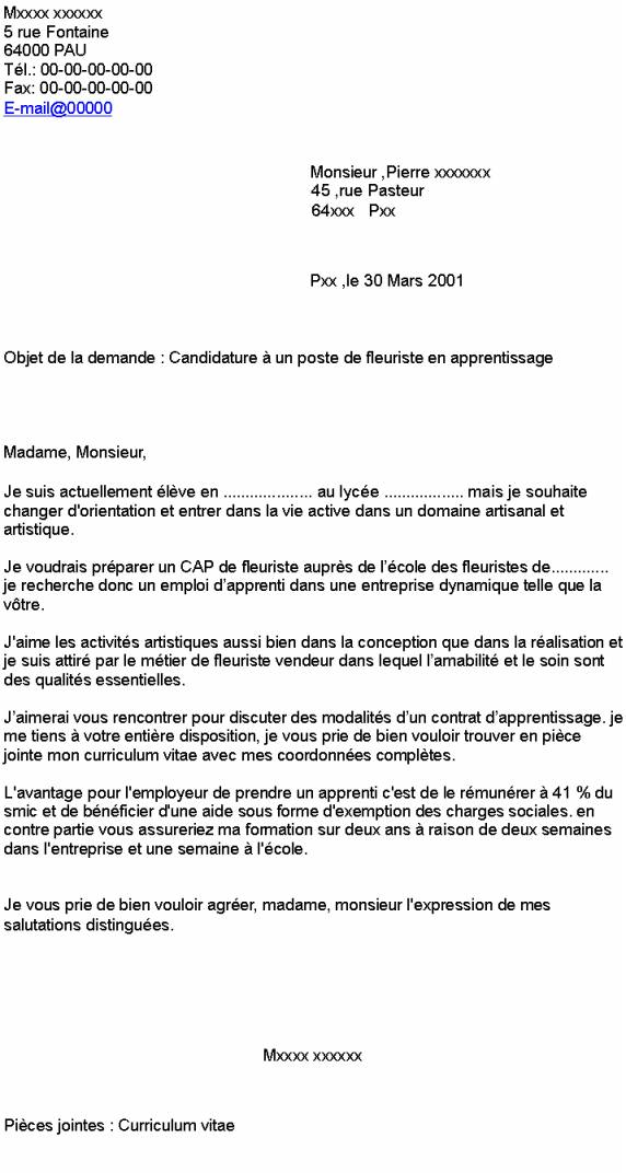 lettre de motivation contrat apprentissage