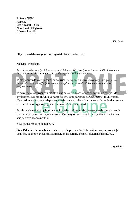 lettre de motivation administratif