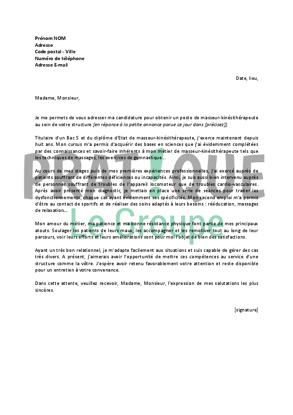 lettre de motivation ripeur debutant