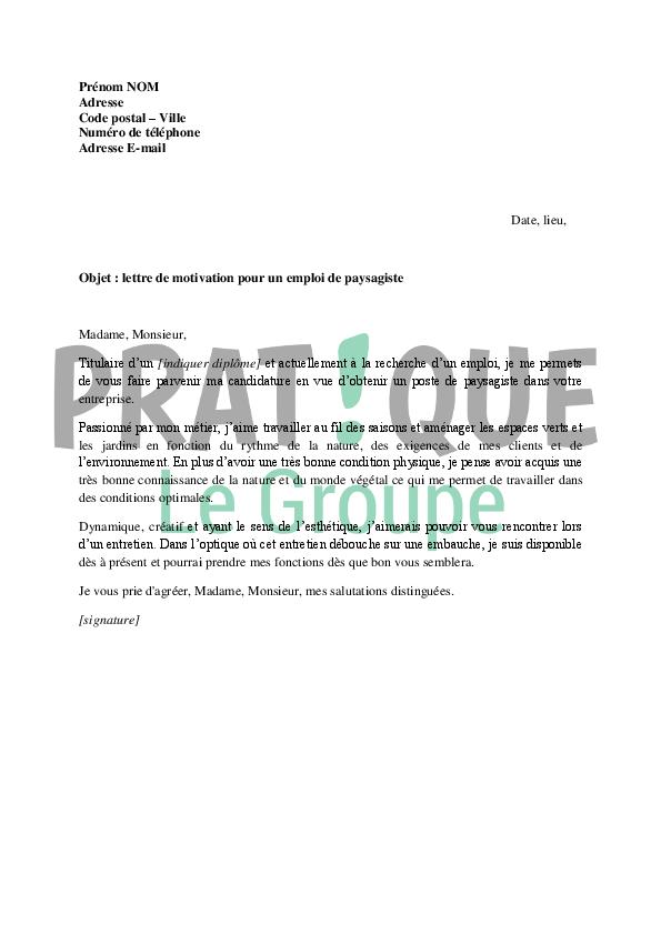 lettre de motivation espace vert mairie sans experience