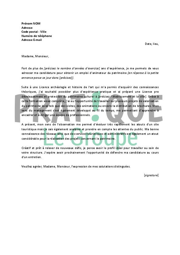 lettre de motivation licence histoire de l u0026 39 art et