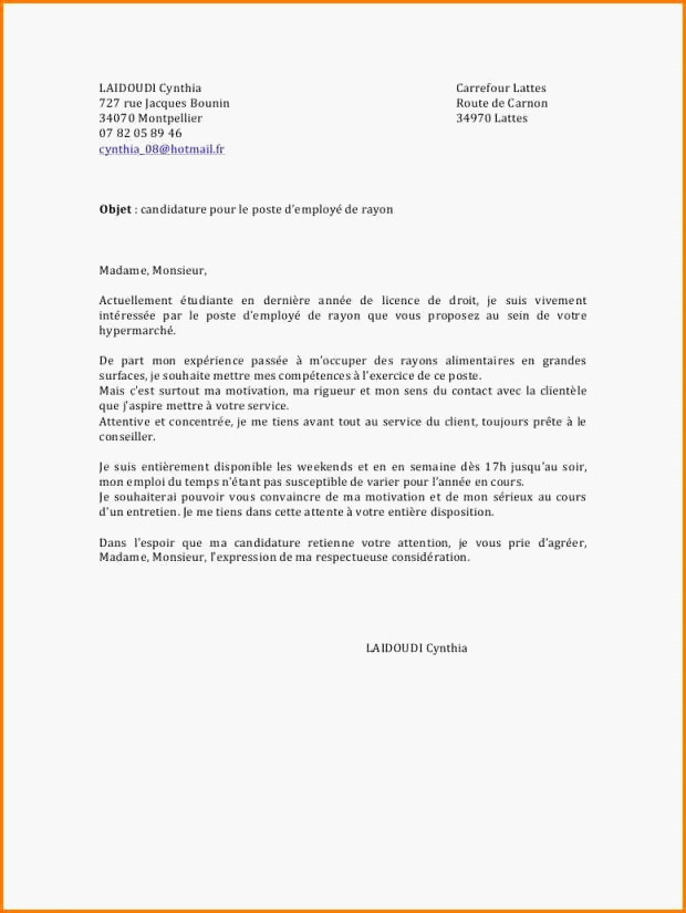 lettre de motivation preparateur de commande interim