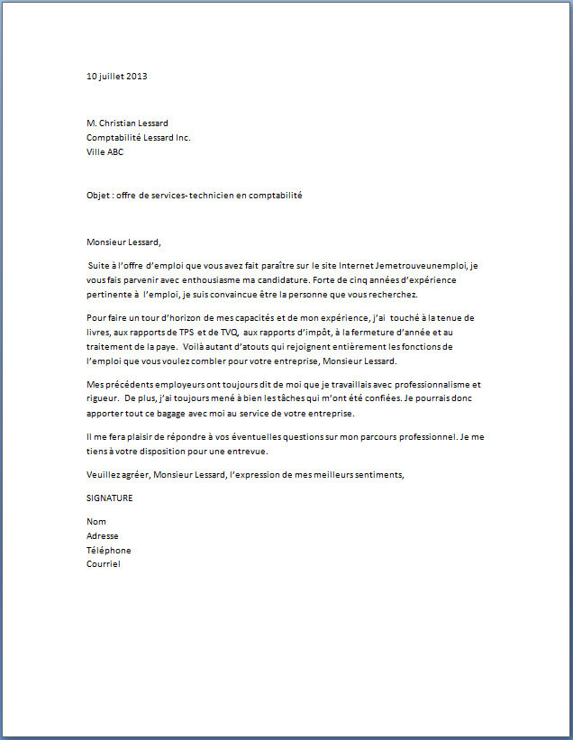 lettre de motivation job d u0026 39  u00e9t u00e9 centre des impots