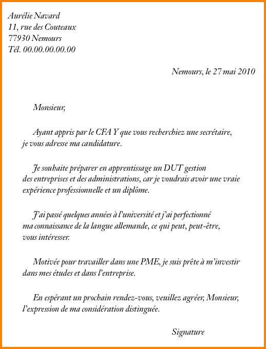 lettre de motivation candidature spontan u00e9e secr u00e9taire