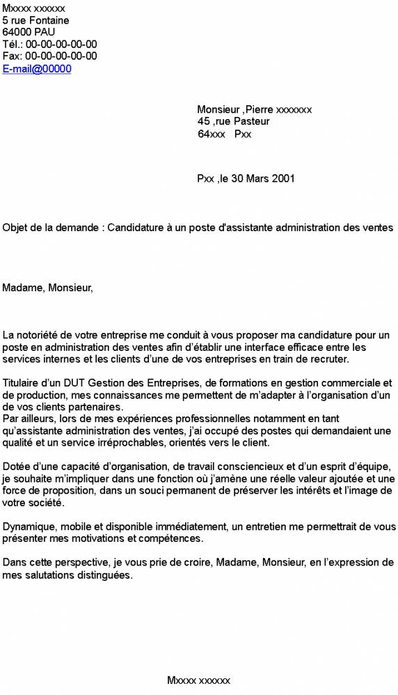 lettre de motivation dut gestion administrative et