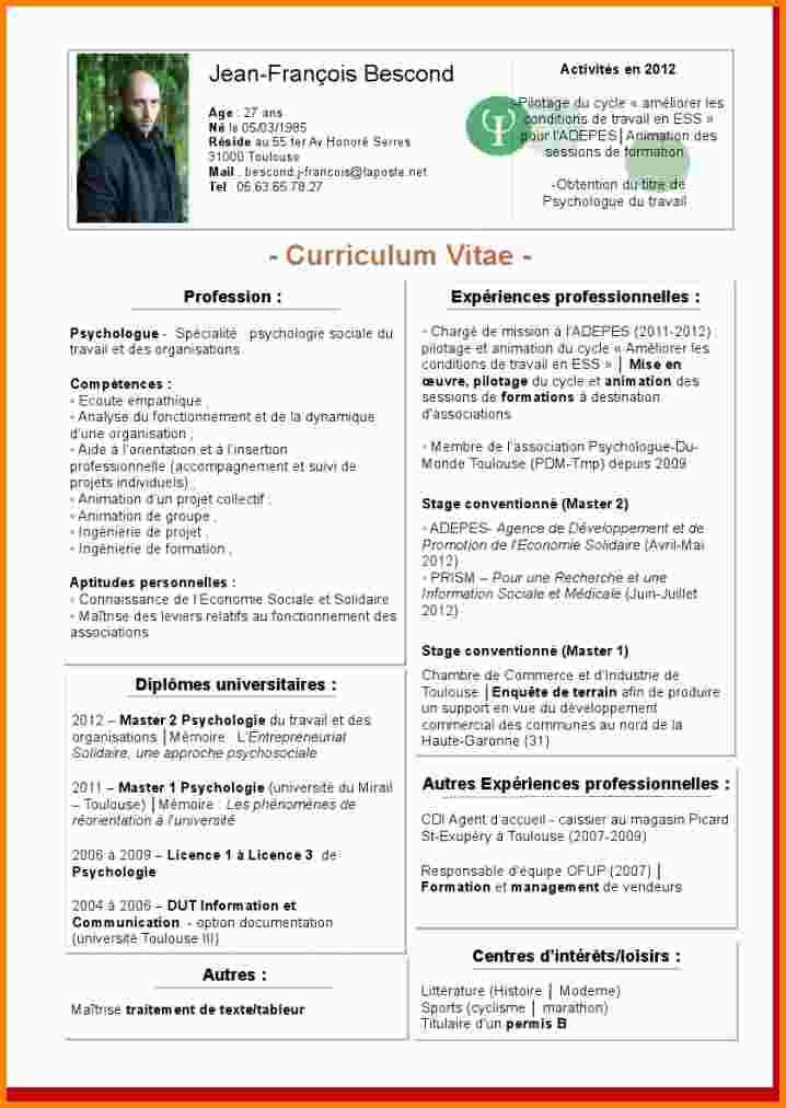 exemple de cv europass psychologue
