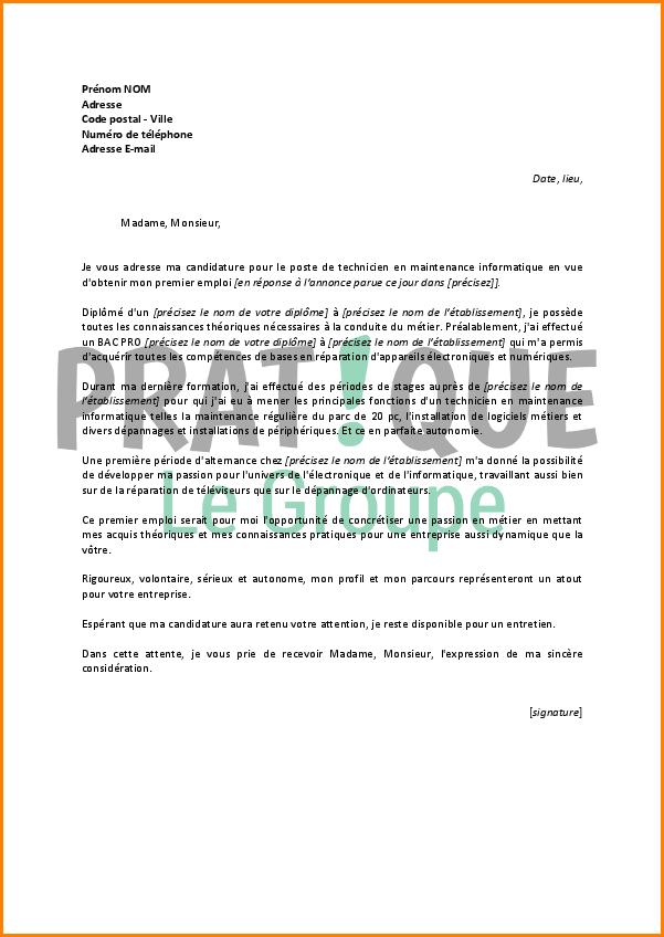 lettre de motivation agent de maintenance industrielle