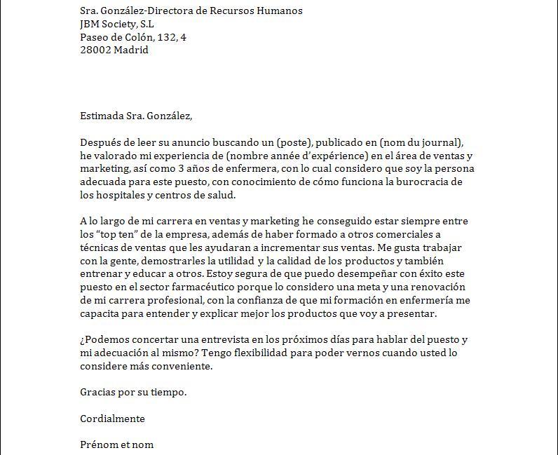 lettre de motivation lea anglais espagnol