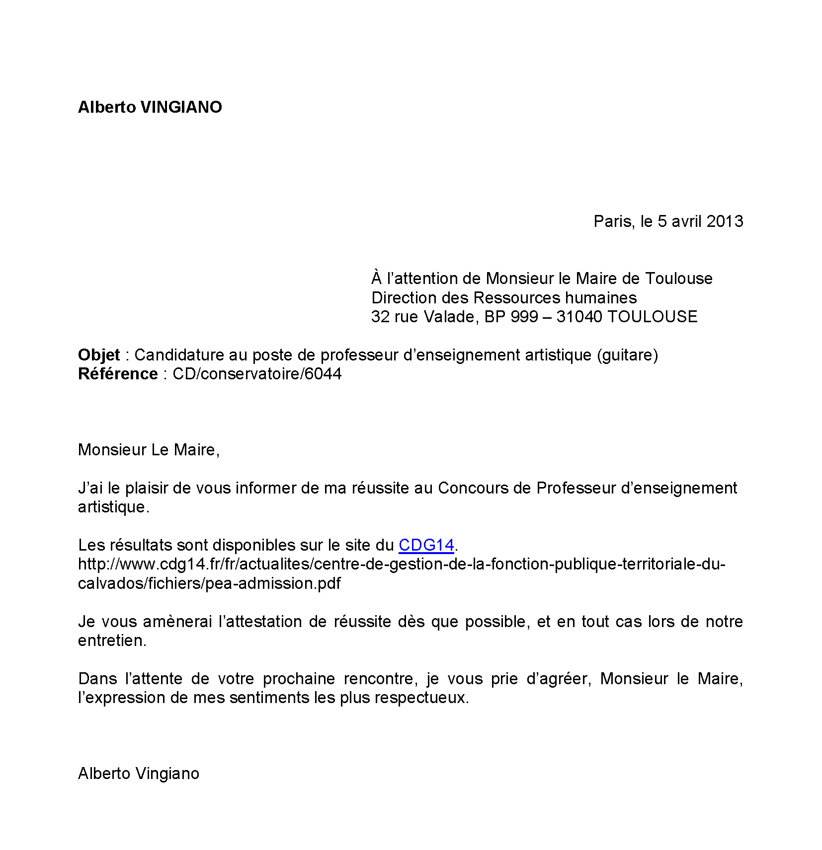 Lettre De Motivation Licence Pro Projet Professionnel: Lettre De Motivation à L'attention De La Direction Des