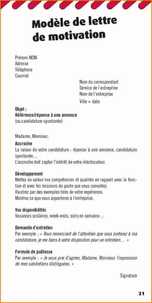 lettre de motivation candidature spontan u00e9e sans experience