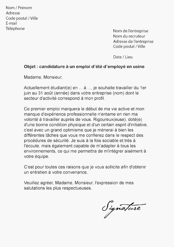 lettre de motivation pr u00e9parateur de commande d u00e9butant sans