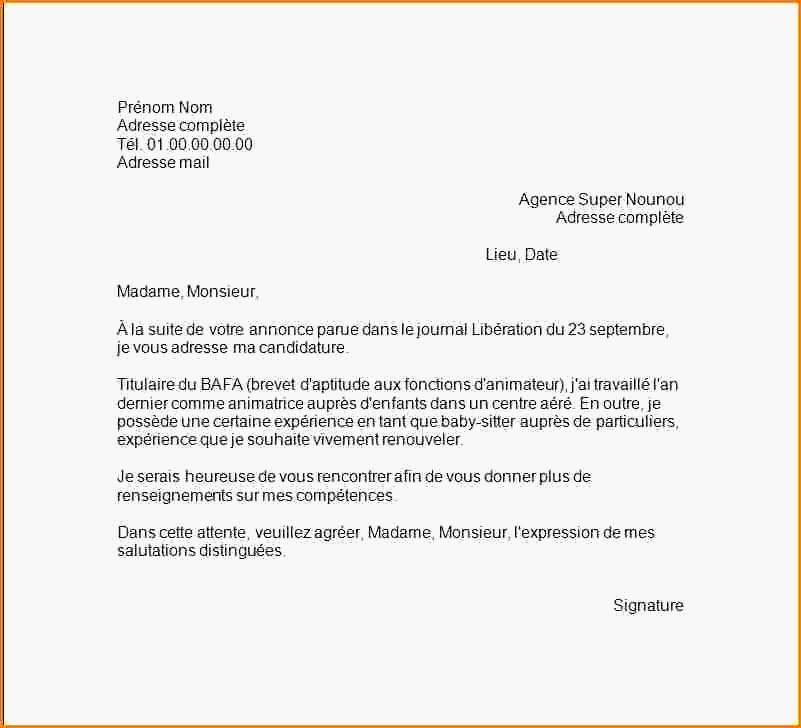 lettre de motivation pour un financement