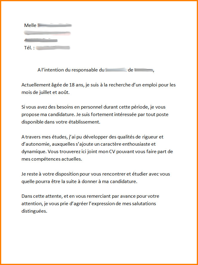 lettre de motivation equipier mcdo