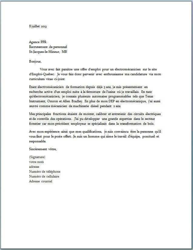 lettre de motivation signature ou pas
