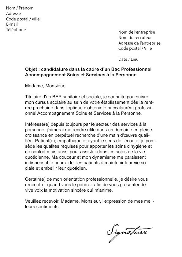 lettre de motivation stage lyc u00e9e professionnel