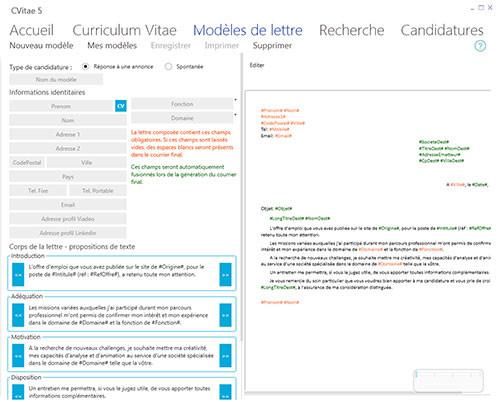 logiciel pour cv et lettre de motivation gratuit