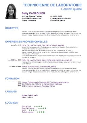 Exemple de cv élève de terminale - laboite-cv.fr