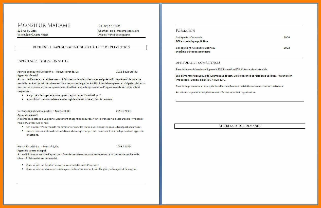 exemple de cv agent centre d u0026 39 appel