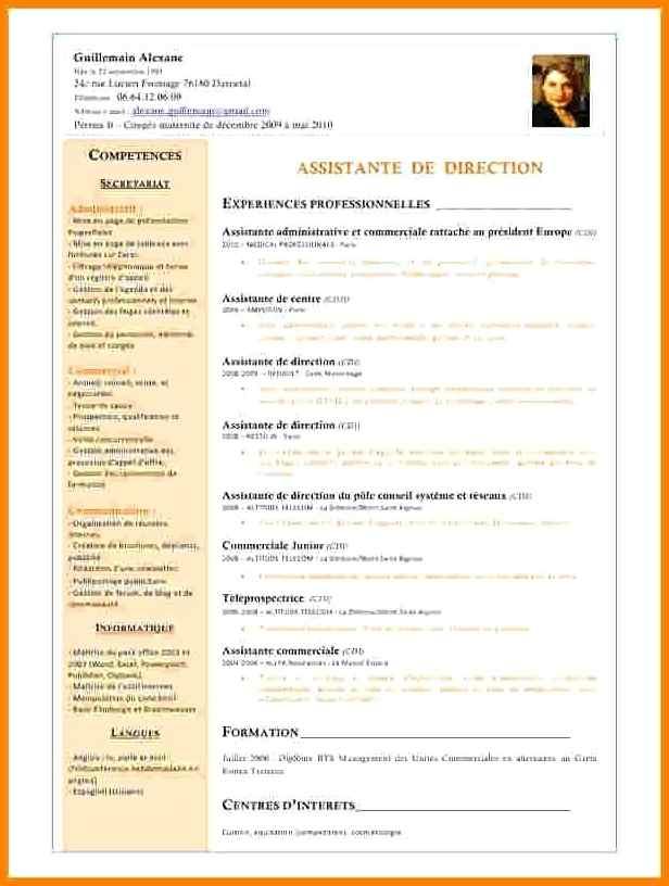 exemple de cv d u0026 39 assistant commercial