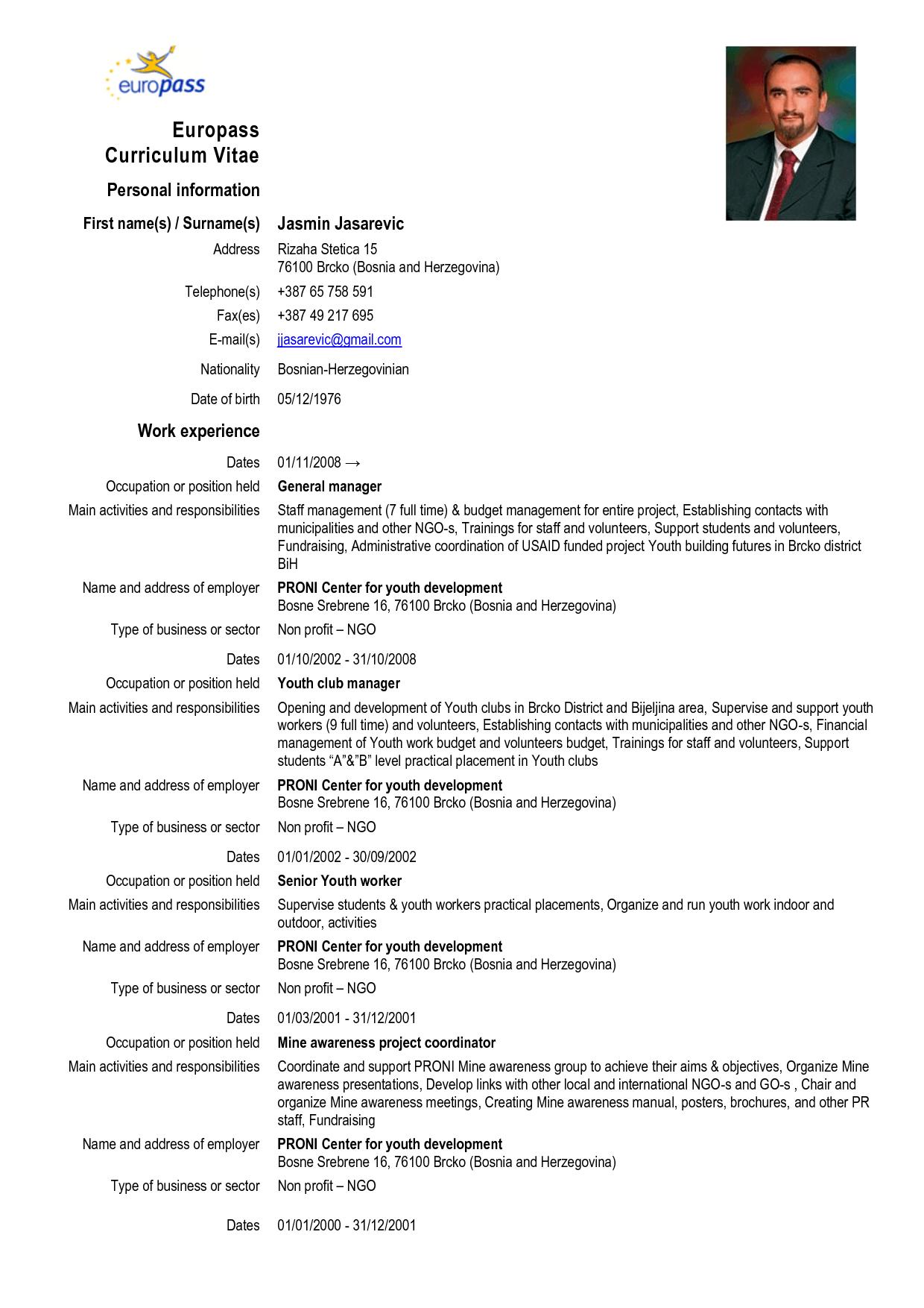 exemple de cv europass comptable d u00e9butant