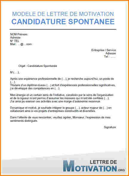 modele lettre de motivation spontan u00e9e secretaire