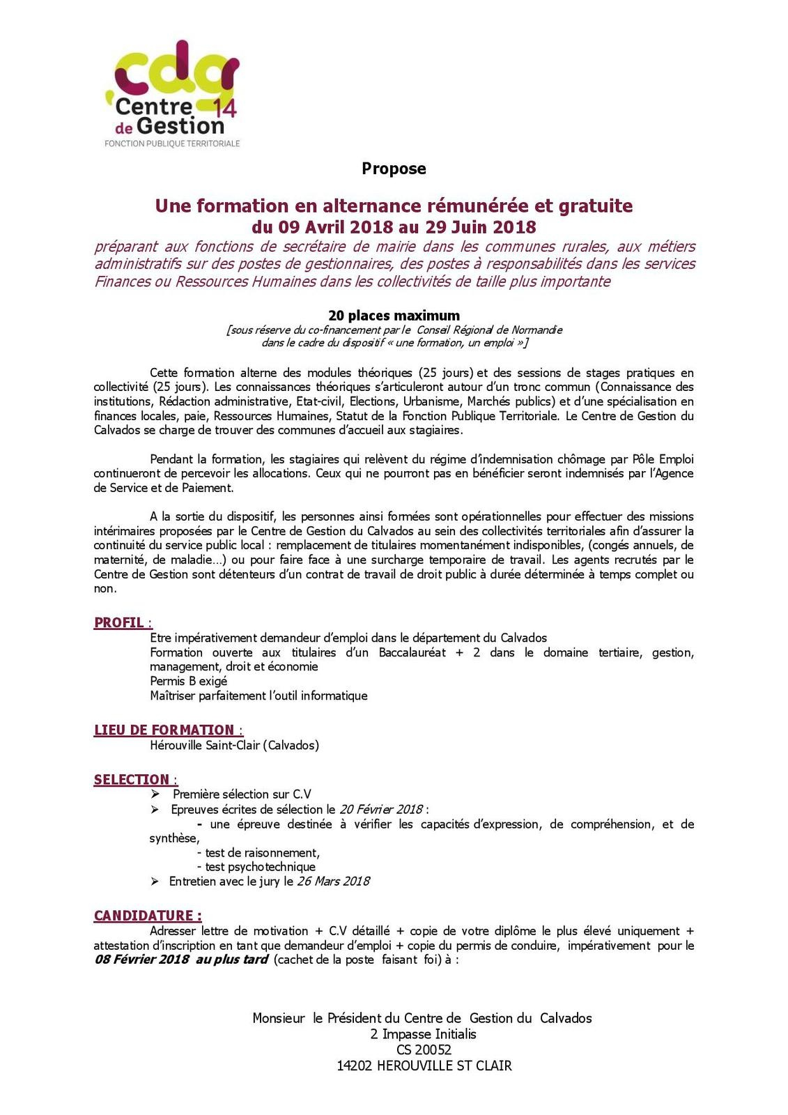 lettre de motivation secretaire mairie