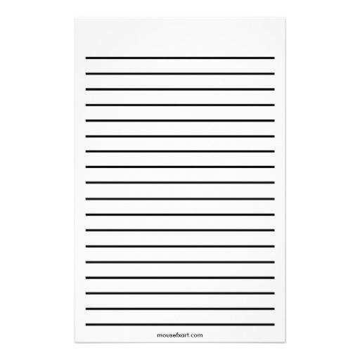 feuille blanche avec ligne pour lettre de motivation