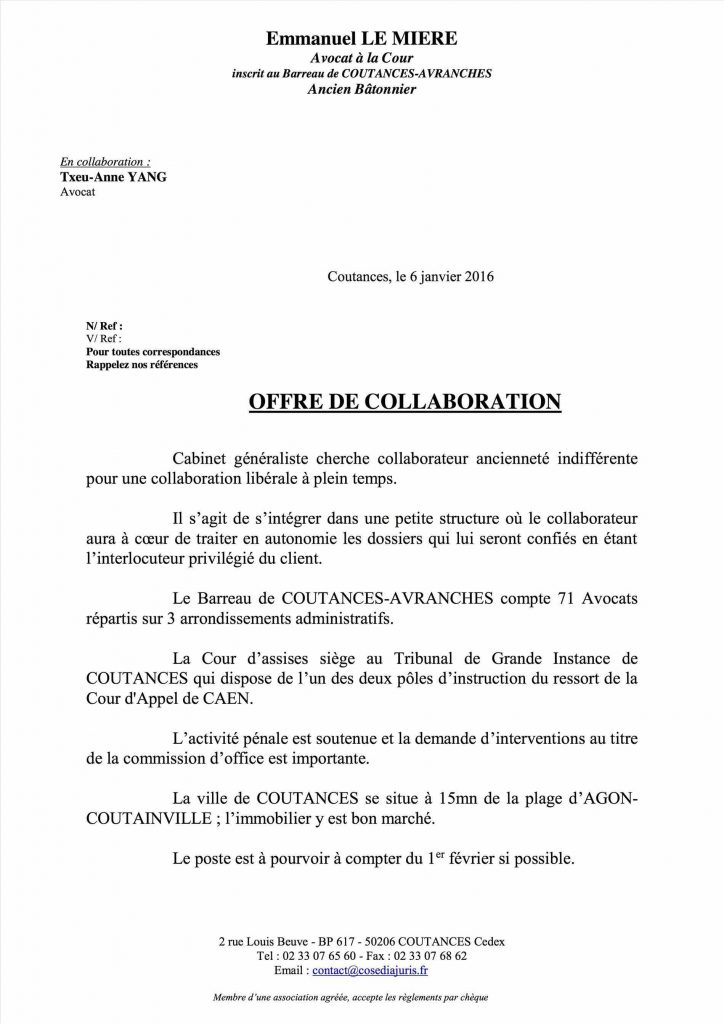 Lettre de motivation stage cabinet d avocat - laboite-cv.fr