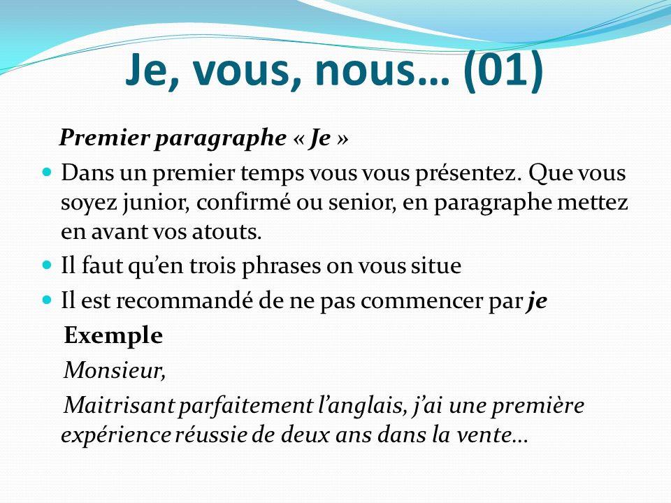 Lettre de motivation je vous nous exemple - laboite-cv.fr