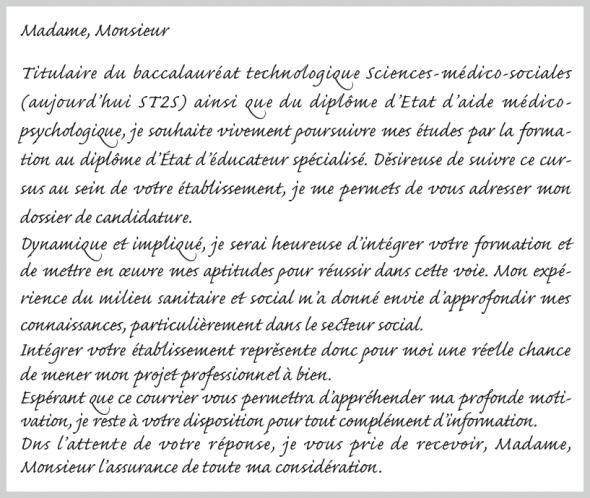 lettre de motivation r u00e9orientation fac de psychologie