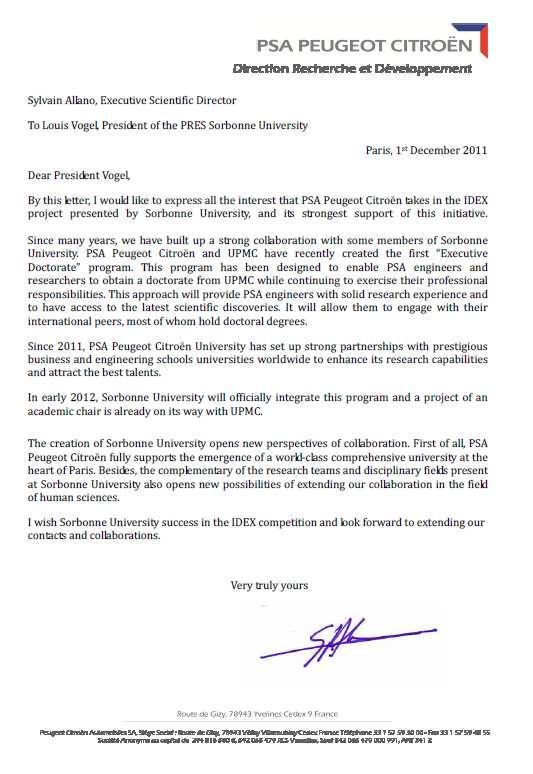 lettre de motivation peugeot psa