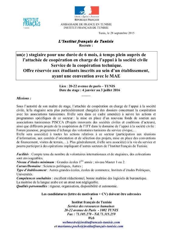 lettre de motivation institut fran u00e7ais