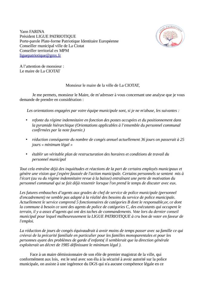 lettre de motivation  u00e0 l attention de monsieur le maire