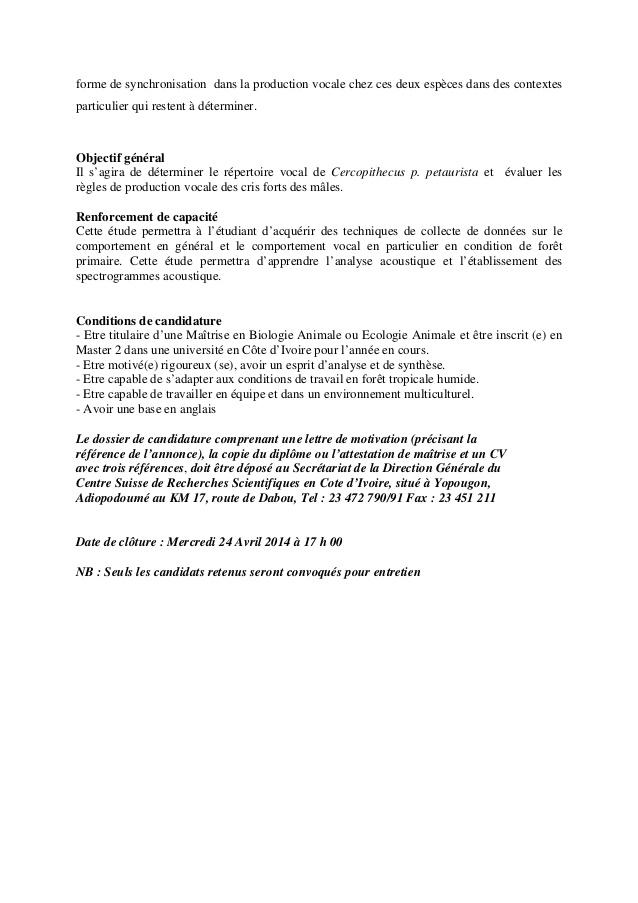 lettre de motivation chercheur biologie