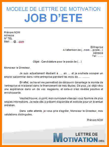 lettre de motivation pour un job  u00e9tudiant au mcdo