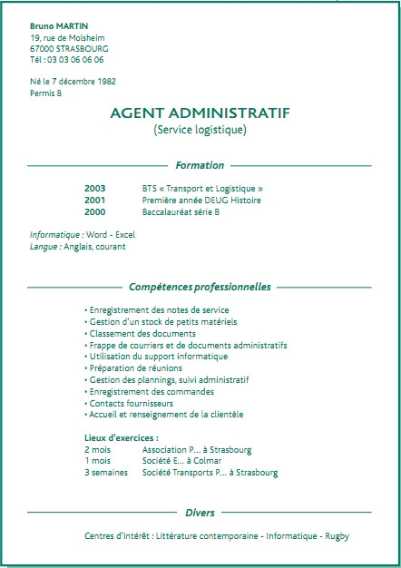 exemple de lettre de motivation agent de service